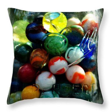 Jar Full Of Sunshine Throw Pillow by Rebecca Sherman