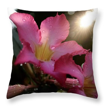 Throw Pillow featuring the photograph Jardin Du Matin by Miguel Winterpacht