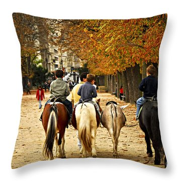 Jardins Du Luxembourg Throw Pillow by Elena Elisseeva