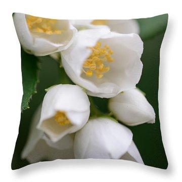 Jasmin Flowers Throw Pillow