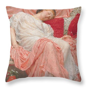 Jasmine Throw Pillow by Albert Joesph Moore
