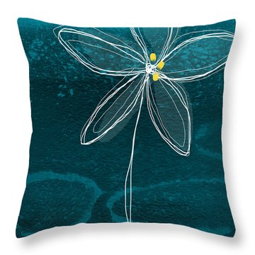 Jasmine Flower Throw Pillow