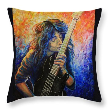Jason Becker Throw Pillow by Tylir Wisdom