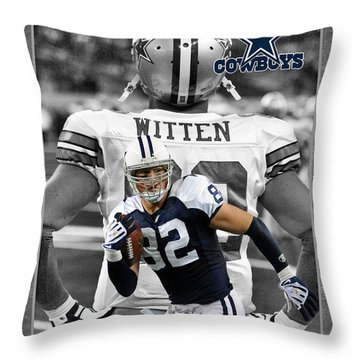 Jason Witten Cowboys Throw Pillow by Joe Hamilton