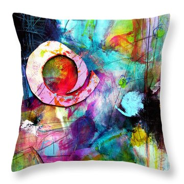 Jaunt Throw Pillow by Katie Black