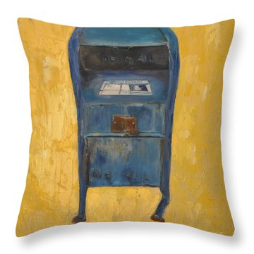 Jaunty Mailbox Throw Pillow by Lindsay Frost
