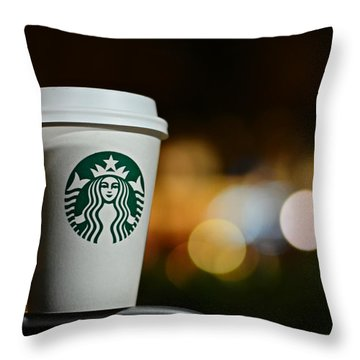 Java Throw Pillow by Laura Fasulo