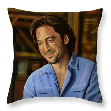 Javier Bardem Painting Throw Pillow