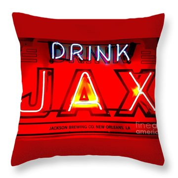 Jax Beer Of New Orleans Throw Pillow