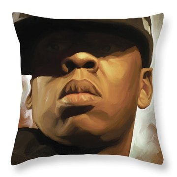 Jay-z Artwork Throw Pillow by Sheraz A