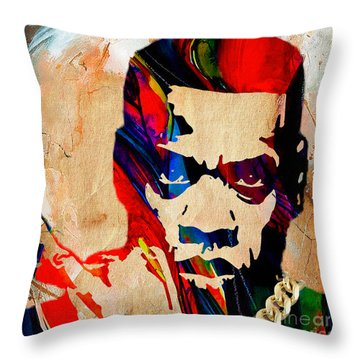 Jay Z Collection Throw Pillow