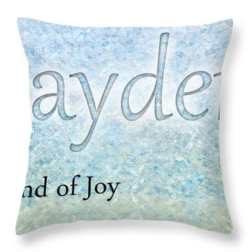 Jayden - Sound Of Joy Throw Pillow by Christopher Gaston