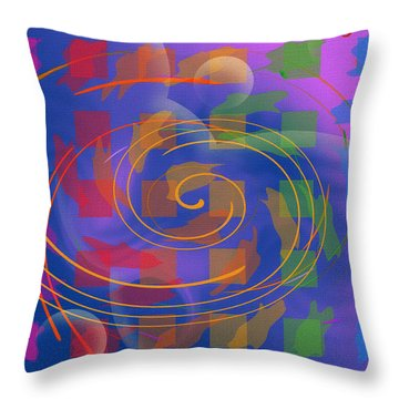 Throw Pillow featuring the digital art Jazz 1 by David Klaboe