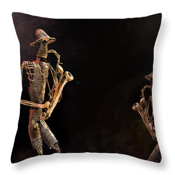 Jazz Club Throw Pillow by Trevor Chriss