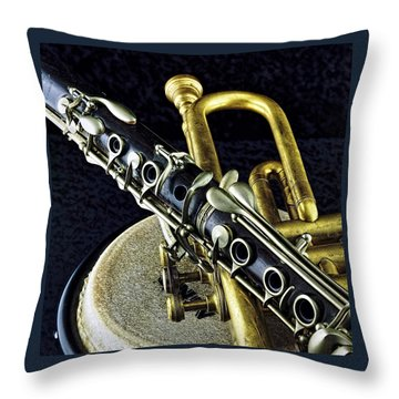 Throw Pillow featuring the photograph Jazz by Elf Evans