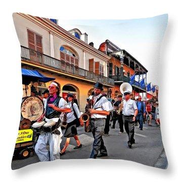 Jazz Funeral Throw Pillow by Steve Harrington