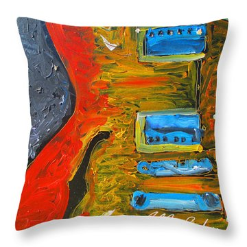 Jazz Guitar Story Throw Pillow