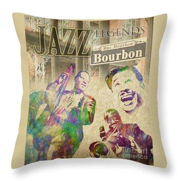 Jazz Legends Throw Pillow