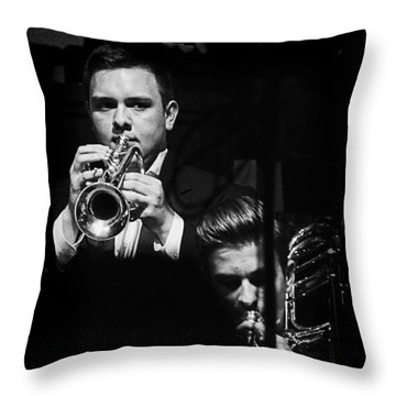 Jazz Men Throw Pillow by Ron Roberts