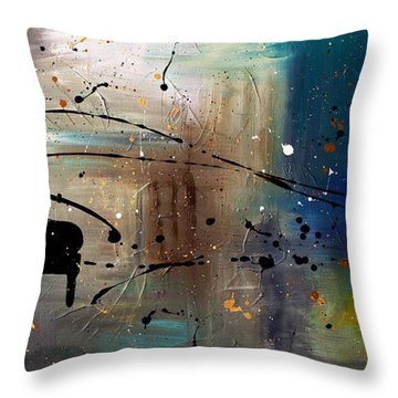 Jazz Night Throw Pillow by Carmen Guedez