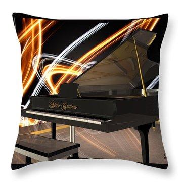 Jazz Piano Bar Throw Pillow