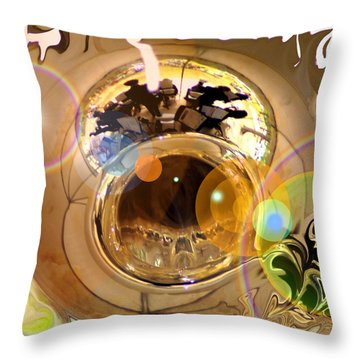 Jazz Reflections Throw Pillow