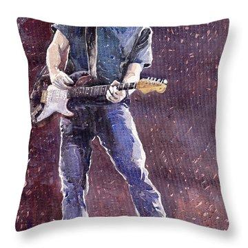 Jazz Rock John Mayer 01 Throw Pillow by Yuriy  Shevchuk