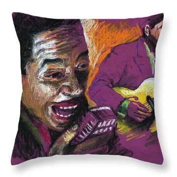 Jazz Songer Throw Pillow by Yuriy  Shevchuk