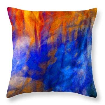 Jazz#2 Throw Pillow by Karo Evans