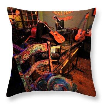 Jazza Matazz Throw Pillow by Robert McCubbin