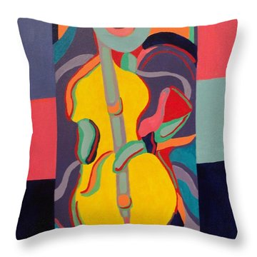 Jazzamatazz Cello Throw Pillow