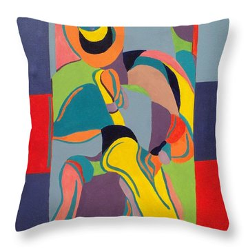 Jazzamatazz Saxophone Throw Pillow