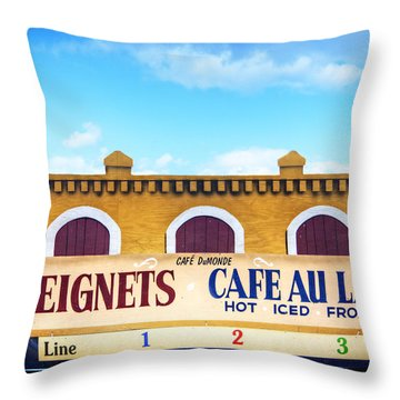 Throw Pillow featuring the photograph Jazzfest Heaven by Tammy Wetzel