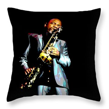 Jazzman Throw Pillow