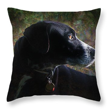 Jazz's Portrait Throw Pillow