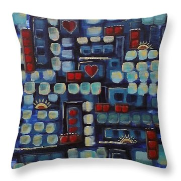 Jazzy Love Throw Pillow
