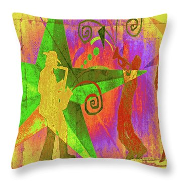 Jazzy Throw Pillow by Molly McPherson