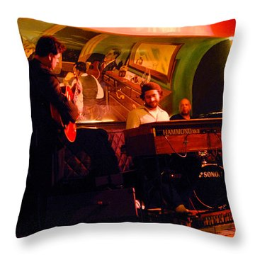 Jc Stylles At Mintons Playhouse Harlem Usa Throw Pillow by Steve Archbold