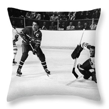 Jean Beliveau Poster Throw Pillow by Gianfranco Weiss