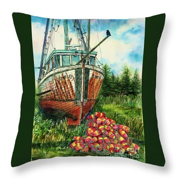 Jeanie O And The Crow Throw Pillow