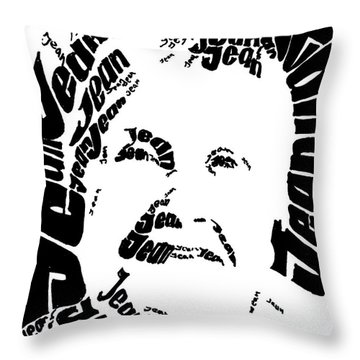 Throw Pillow featuring the painting Jean's Portrait by PainterArtist FINs husband Maestro