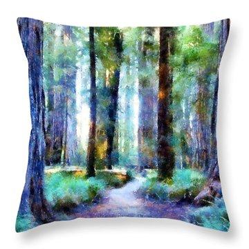 Jedediah Smith Grove Throw Pillow