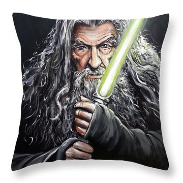 Jedi Master Gandalf Throw Pillow