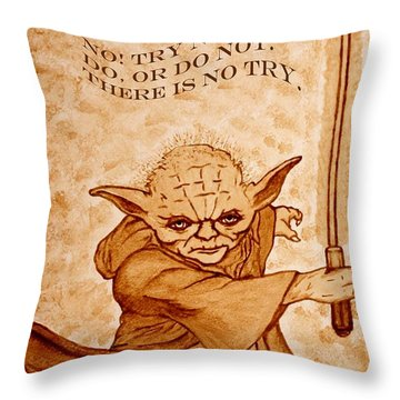 Jedi Yoda Wisdom Throw Pillow
