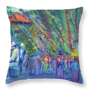 Jeff Austin Band And Bukaty In Keystone Throw Pillow by David Sockrider