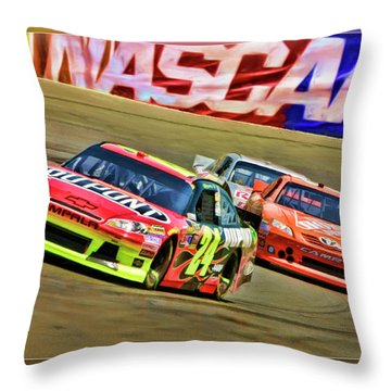 Jeff Gordon-nascar Race Throw Pillow
