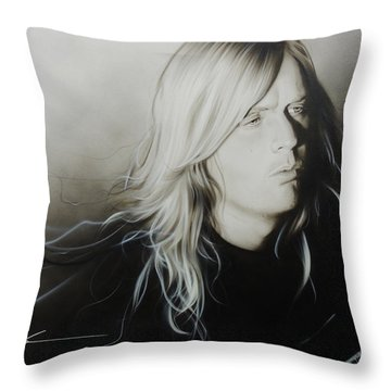 Jeff Hanneman Throw Pillows