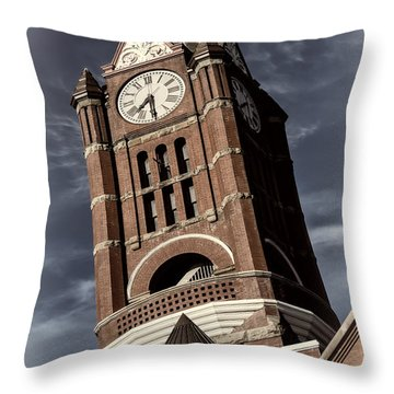 Jefferson County Courthouse Clock Tower Throw Pillow