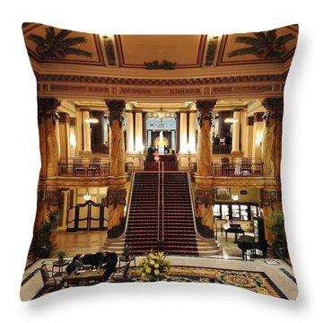Jefferson Hotel Rotunda Throw Pillow