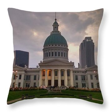 Jefferson Memorial Bldg Throw Pillow by Chris Tarpening